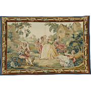 SALE Fine French Aubusson Tapestry 3'9 x 5'9 Free shipping & appraisal