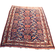 """SALE 1910's Antique Persian Afshar rug 4' 2"""" x 5' 9"""" Free shipping & appraisal"""