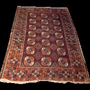 "SALE Antique 1890's Russian Bokara rug 3' 8"" x 5' 9"" Free shipping & appraisal"