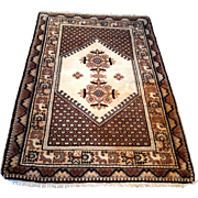"""SALE 1960's Moroccan rug  3' 8"""" x 5' 5"""" Free shipping & appraisal"""