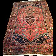 "SALE Beautiful Fine Antique Persian SERAPI Oriental Rug in Rare Size-4'7"" X 7 ..."