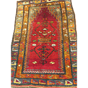 SALE Antique Konya Oriental Rug Vegetable Dyes 3' x 4'3 Free shipping and appraisal