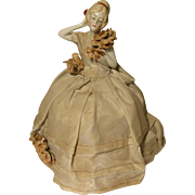 REDUCED China / Porcelain Dresser Half Doll Pincushion  Germany 6348