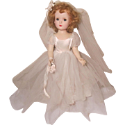 "SALE Madame Alexander Wendy Walker 14"" Bride Doll   (Maggie)"