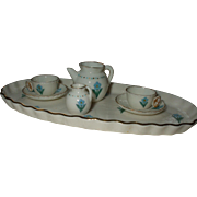 Rare 19th century W. H. Goss Miniature Tea  For Two Set + Goss Book