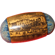 SOLD An attractive 19thc Mauchline Ware Pin Cushion