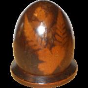 Charming 19th Century Fern Ware Thimble Holder