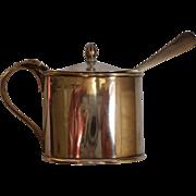 English Sterling Silver Mustard Pot Hallmarked Birmingham 1914