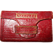 SOLD Fine Early Victorian Fold Over Needle Packet Case