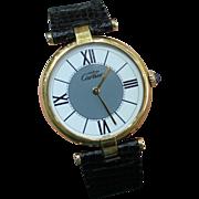 """SALE Vintage """"Must De Cartier"""" Wrist Watch 30 MM Round Face Classic Style Quartz Mov"""