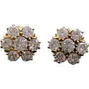 SALE 22 Karat Rose Gold Earrings From late 1970's 1.6 Carat total Weight ...