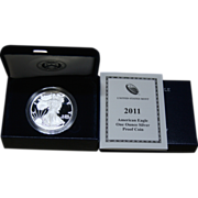 2011-W American Silver Eagle Proof Coin, Original Box & COA