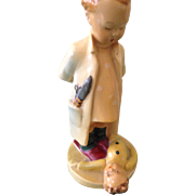 "REDUCED 1942  Hummel chalkware ""the doll doctor"""
