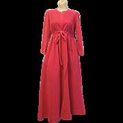 SALE Vintage Vanity Fair Hot Pink housecoat bathrobe Petite zip polyester long