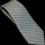 "SALE Men's vintage Hermes necktie Basket weave 5079PA 100% Soie 3.5""x60"""