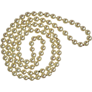 SALE A Magnificent Vintage  Opera length AA Grade Natural Japanese 7.5mm Akoya Pearl Necklace