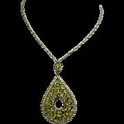 A Large Peridot Pendant Necklace