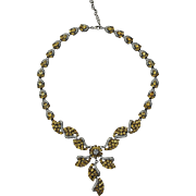 A Magnificent Statement Necklace Made of Citrines set in Japaned Sterling Silver