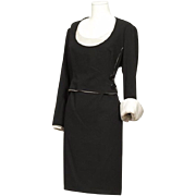 A 1989 Christian Dior Haute Couture Black Dress n°17530 by Gianfranco Ferre