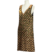 A Magnificent 1980's Fully Beaded  Gold Evening Dress By Dries Van Noten