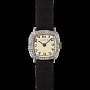 Iconic 1920's Tiffany & Co Platinum and Diamond Ladies Wristwatch