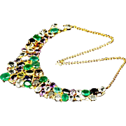 An Imposing Ruby, Sapphire, Emerald, Garnet, Citrine and Topaz Necklace