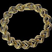 A Vintage Gold Tone & Swarovski Crystal Link Bracelet signed Attwood & Sawyer