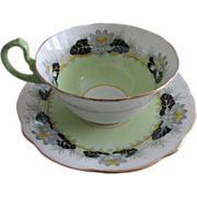 SALE Aynsley Lily Pad Teacup And Saucer
