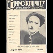OPPORTUNITY MAGAZINE, 1939