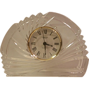 Mikasa Quartz Crystal Spiral Crescent Clock