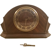 SOLD Seth Thomas Tambour Mantle Clock with Art Deco Style Design
