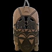 REDUCED Kenyan Hand Carved Decorative Mask