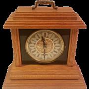 Wood Quartz Mantle Clock