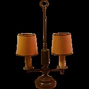 Vintage Two Light Candlestick Desk Lamp