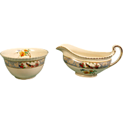 SALE Gravy Boat & Bowl Johnson Bros Old English Vigo Ribbed Birds Flowers England