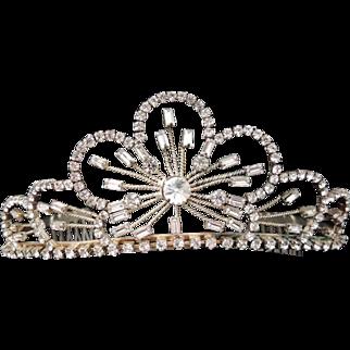 Vintage Tiara Wedding Crown / Crystal Wedding Tiara / Rhinestone Bridal Tiara / Bridal Headpiece / Communion Tiara / Tiara / Hair Accessory