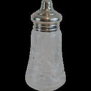 Sterling Silver & Crystal Sugar Caster Jar