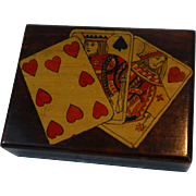 Antique Playing Card Box, England