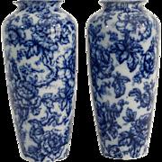 Pair Cavendish Vases, by Keeling, Staffordshire