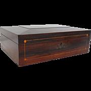 C. 1910 Rosewood Document Jewelry Box
