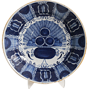 Antique Delft 'Peacock' Platter  18th-Century, Dutch