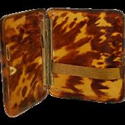 Faux Tortoise Cigarette Jewelry Card Case