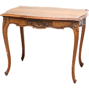 French Louis XV-Style Walnut Center Table