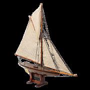 SALE Antique English Pond Yacht