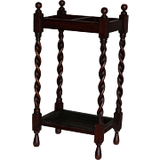 19th-C Oak Umbrella Stick Stand