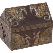 Winged Phoenix Metal Art Nouveau Repousse Box
