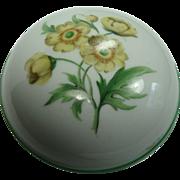 SALE Vintage Vienna Wien Augarten Yellow Floral Lidded Dish