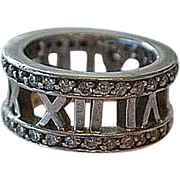 Sterling silver handmade ring with cubic zirconia