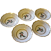 Vintage christmas bowls set of 5 BAVARIA Schumann Arzberg porcelain gold gilded / christmas ..