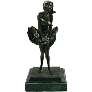 Art Deco Style Bronze on Marble Statue